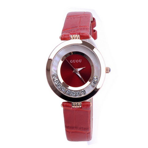 Filicitas- Rhinestone Waterproof  Genuine Leather Watch - LA MIA CARA JEWELRY - 1