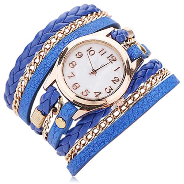 La Mia Cara Jewelry & Accessories - Floriana - Fashion Leather Bracelet Watch