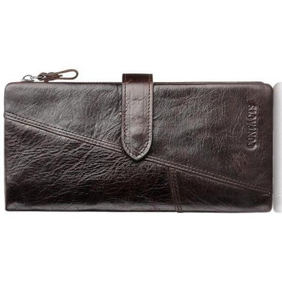 Francesco - Classical Leather Organizer Vintage Man Wallet - LA MIA CARA JEWELRY - 1