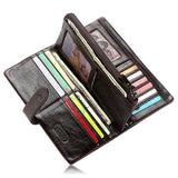 Francesco - Classical Leather Organizer Vintage Man Wallet - LA MIA CARA JEWELRY - 4