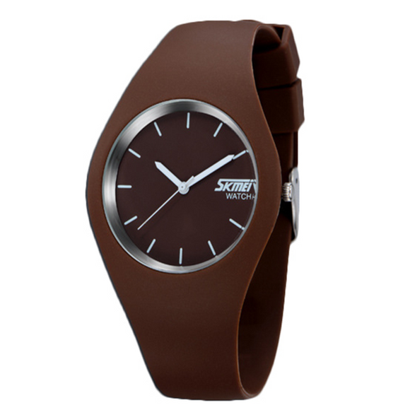 La Mia Cara Jewelry - Gelatina Brown - Soft Silicone Jelly Sports Watch Unisex