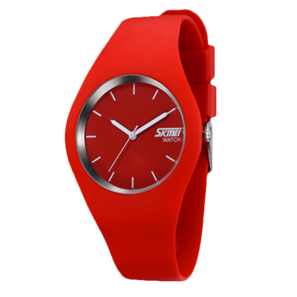 La Mia Cara Jewelry -  Red Gelatina - Soft Silicone Jelly Sports Watch For Men And Women