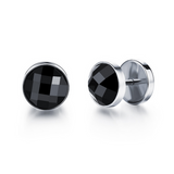 Gino - Big CZ Diamond Stainless Steel Stud Earrings - LA MIA CARA JEWELRY - 1