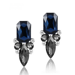 Giuseppina - Shiny Crystal Stud Earrings - LA MIA CARA JEWELRY - 1