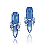 Giuseppina - Shiny Crystal Stud Earrings - LA MIA CARA JEWELRY - 2