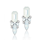 Giuseppina - Shiny Crystal Stud Earrings - LA MIA CARA JEWELRY - 3