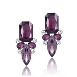 Giuseppina - Shiny Crystal Stud Earrings - LA MIA CARA JEWELRY - 4