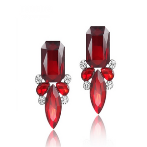 Giuseppina - Shiny Crystal Stud Earrings - LA MIA CARA JEWELRY - 5
