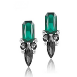 Giuseppina - Shiny Crystal Stud Earrings - LA MIA CARA JEWELRY - 6