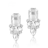 Giuseppina - Shiny Crystal Stud Earrings - LA MIA CARA JEWELRY - 7