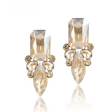 Giuseppina - Shiny Crystal Stud Earrings - LA MIA CARA JEWELRY - 8