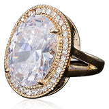 Statement Ring - Graziella - CZ Diamond Gold Ring -La Mia Cara Jewelry