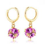 Gulia - Swarovski Crystal Silver / Gold Hoop Earrings - LA MIA CARA JEWELRY - 4