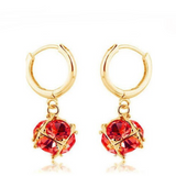 Gulia - Swarovski Crystal Silver / Gold Hoop Earrings - LA MIA CARA JEWELRY - 6