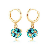 Gulia - Swarovski Crystal Silver / Gold Hoop Earrings - LA MIA CARA JEWELRY - 9