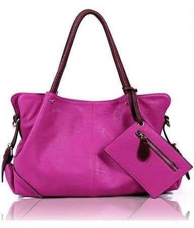 Pink Blanca - Genuine Leather Designer Tassel Handbag