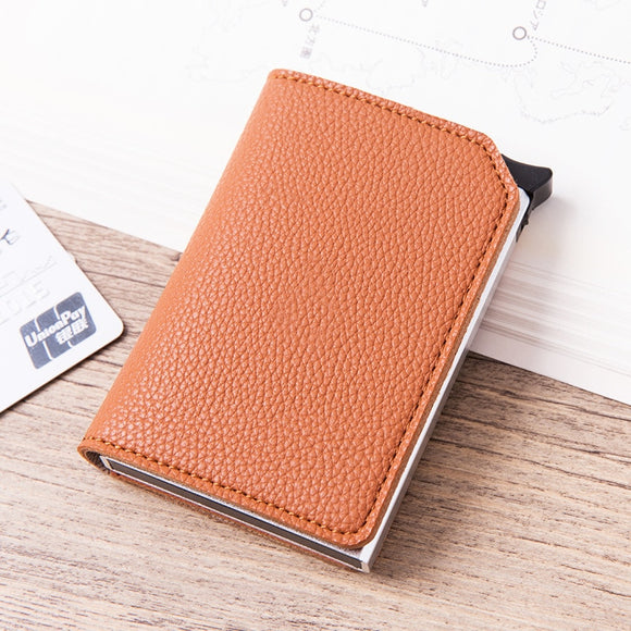 La Mia Cara -Orange Roberto - Credit Card Holder Wallet with RFID Blocking