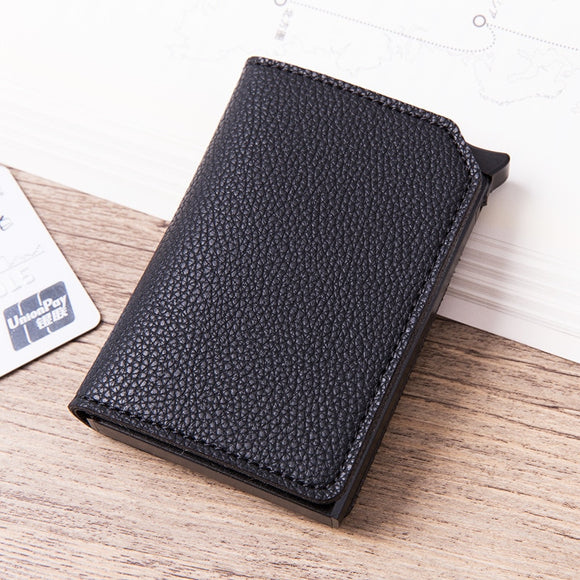 La Mia Cara -Black Roberto - Credit Card Holder Wallet with RFID Blocking
