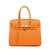 Orange Zucchero - Genuine Leather Elegant Women  Briefcase Bag