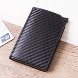 La Mia Cara -Carbon fiber black Roberto - Credit Card Holder Wallet with RFID Blocking