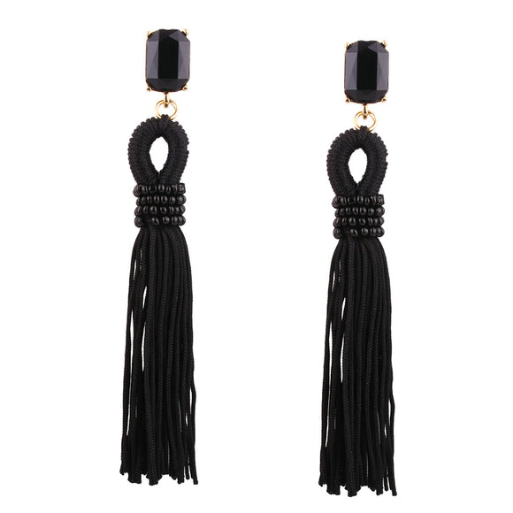LA MIA CARA  - Camille - Long Tassel Earrings