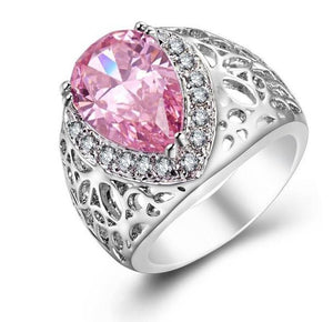La Mia Cara Jewelry - Grazia - Pink Kunzite Silver Cocktail Ring