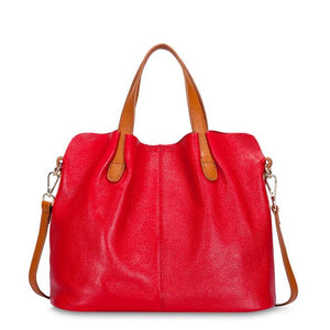 La Mia Cara - Red Ciceroni - Luxury Genuine Leather Messenger Bag