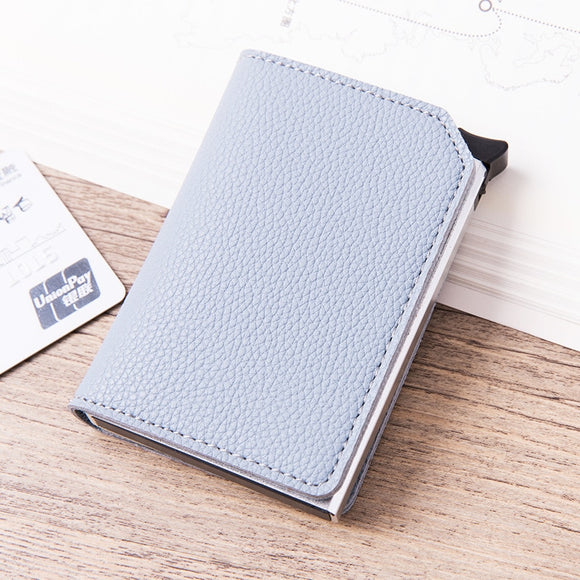La Mia Cara -Light blue Roberto - Credit Card Holder Wallet with RFID Blocking