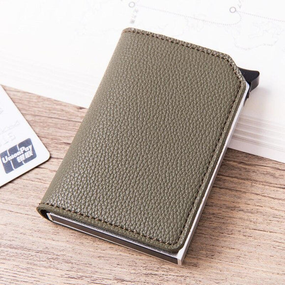 La Mia Cara -Olive Green Roberto - Credit Card Holder Wallet with RFID Blocking
