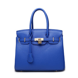 Blue  - Zucchero - Genuine Leather Elegant Women Briefcase Bag