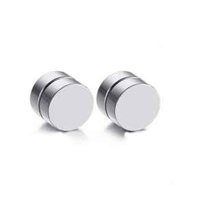 Ilario - Stainless Steel Magnetic Stud Earrings - LA MIA CARA JEWELRY - 4