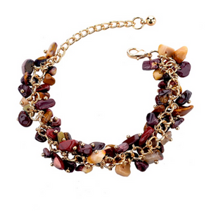 La Mia Cara Jewelry - Incanto Purple /Red - Colorful Crystal Bracelet