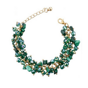 La Mia Cara Jewelry - Incanto Green - Colorful Crystal Bracelet