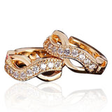 Infinito - Swarovski Crystal Rose Gold Statement Stud Earring - LA MIA CARA JEWELRY - 1