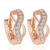 Infinito - Swarovski Crystal Rose Gold Statement Stud Earring - LA MIA CARA JEWELRY - 2