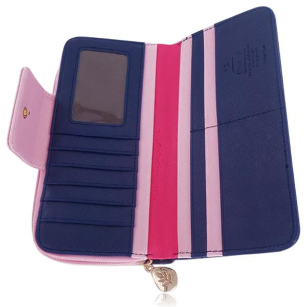 Jessica - 11 Color Leather Variants  Long  Design Clutch Lady Wallet  Purse - LA MIA CARA JEWELRY - 2