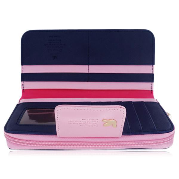 Jessica - 11 Color Leather Variants  Long  Design Clutch Lady Wallet  Purse - LA MIA CARA JEWELRY - 3