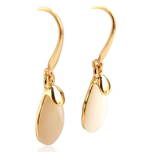 Joeana - Opal Gold Hoop Earrings - LA MIA CARA JEWELRY - 1