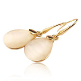 Joeana - Opal Gold Hoop Earrings - LA MIA CARA JEWELRY - 2
