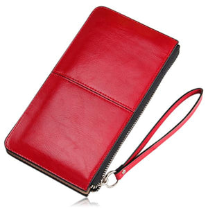 Jonela - 6 Colors Genuine Leather Oil Waxed Lady Multi-Function Phone Wallet - LA MIA CARA JEWELRY - 4