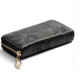 Joya - Flower Print Genuine Leather Clutch Wallet Purse - LA MIA CARA JEWELRY - 6