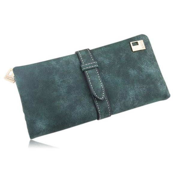 Kiara - 7 Colors Leather Long Hasp Clutch Wallet - LA MIA CARA JEWELRY - 4