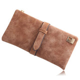 Kiara - 7 Colors Leather Long Hasp Clutch Wallet - LA MIA CARA JEWELRY - 5