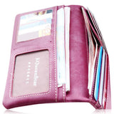 Kiara - 7 Colors Leather Long Hasp Clutch Wallet - LA MIA CARA JEWELRY - 7