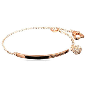 Kundry - CZ Diamond  Rose Gold Anklet - LA MIA CARA JEWELRY