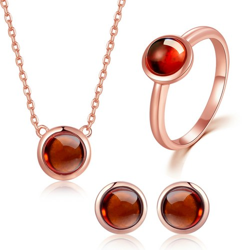 LA MIA CARA JEWELRY - Moon - Classic Garnet Jewelry Set