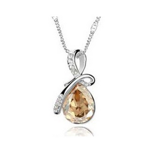 Alica - Swarovski Crystal Romantic Tear Drop Silver Necklace - LA MIA CARA JEWELRY - 5