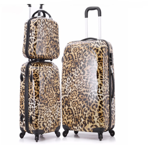 Imogen - Leopard Printed Travel Suitcases On Wheels - LA MIA CARA JEWELRY - 1