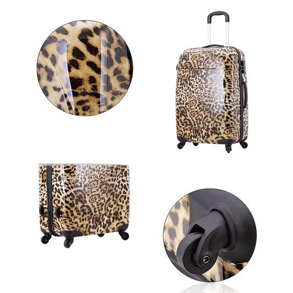 Imogen - Leopard Printed Travel Suitcases On Wheels - LA MIA CARA JEWELRY - 2