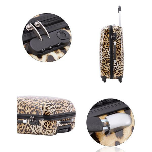 Imogen - Leopard Printed Travel Suitcases On Wheels - LA MIA CARA JEWELRY - 3